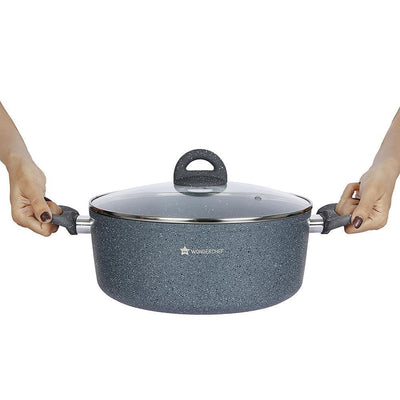 Wonderchef Granite Casserole With Lid 20 Cm