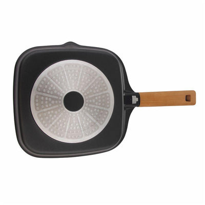 Wonderchef Caesar Grill Pan With Wooden H & le 24cm
