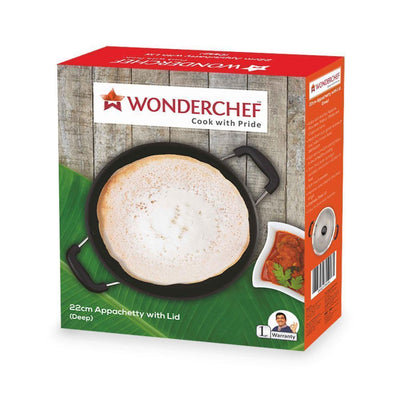 Wonderchef Appachetty 22Cm With Lid(Deep)