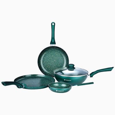 Wonderchef Royal Velvet Olive Green Set