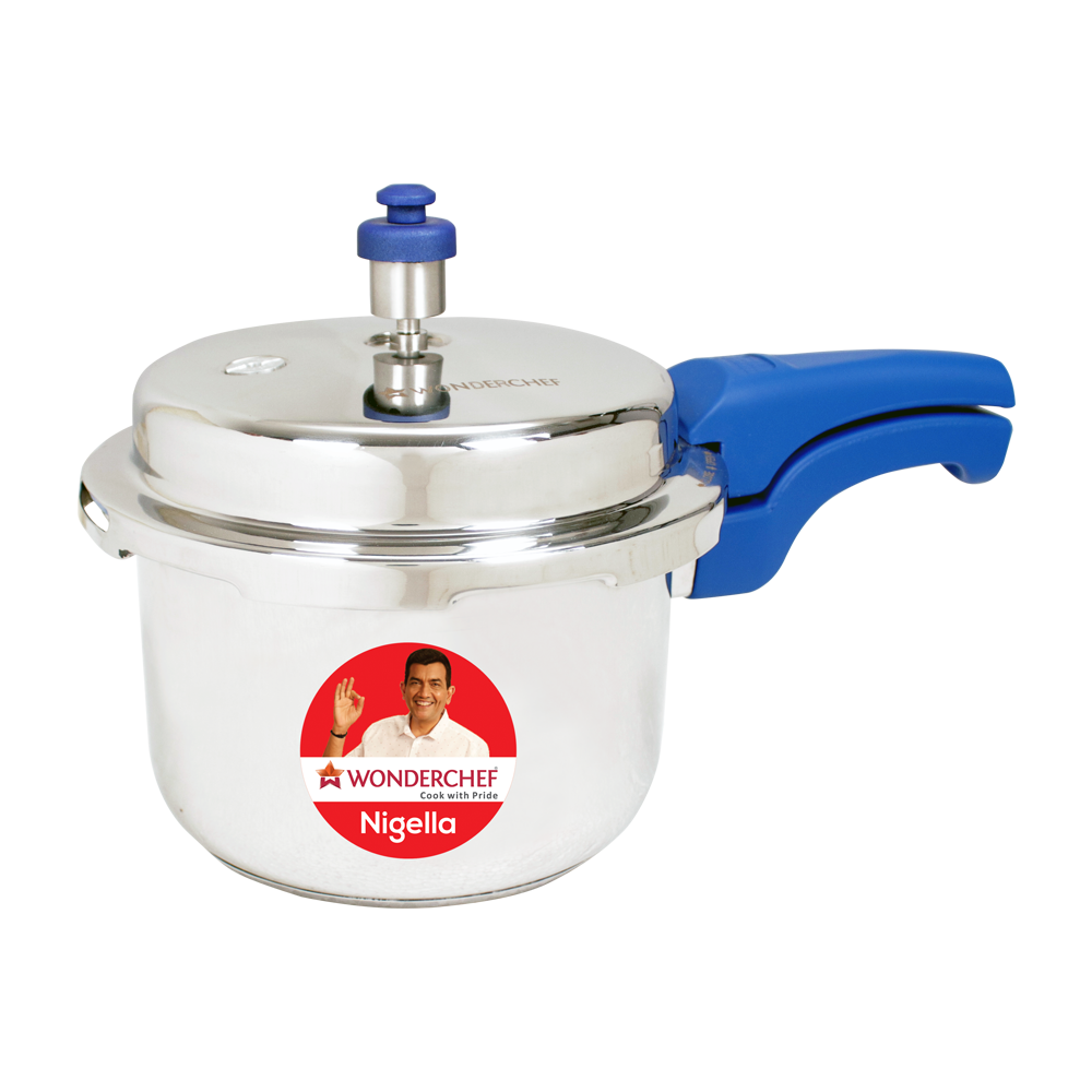 Wonderchef Nigella Pressure Cooker Blue 3L