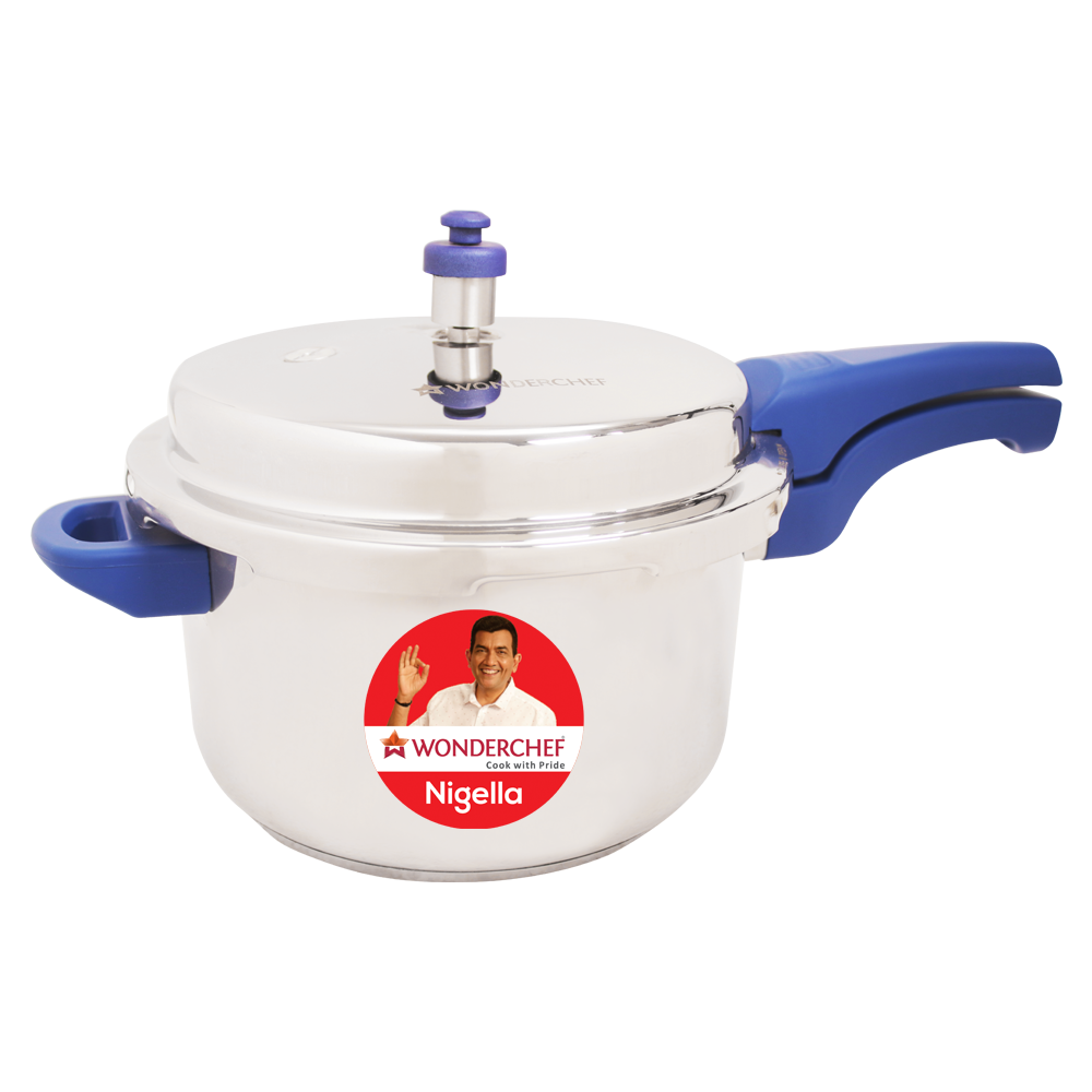 Wonderchef Nigella Pressure Cooker Blue 5L