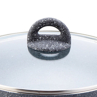 Wonderchef Granite 24Cm Wok With Lid