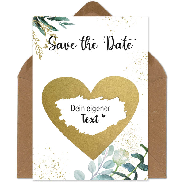 5 Rubbelkarten Save the Date Hochzeit