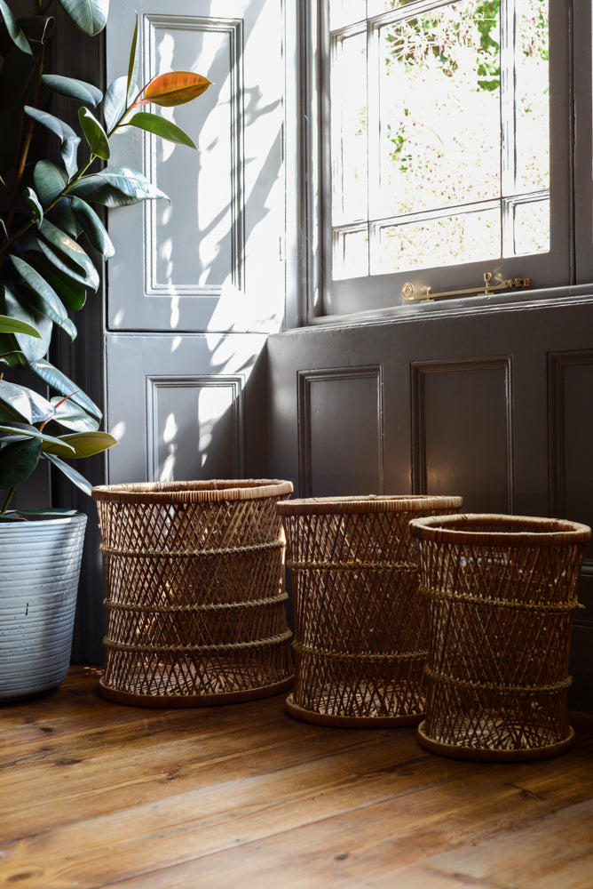3 x wicker planters/baskets
