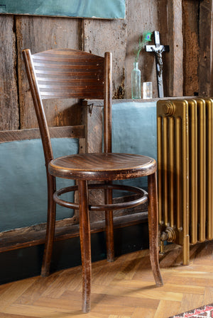6 x Bentwood chairs with charming stripe
