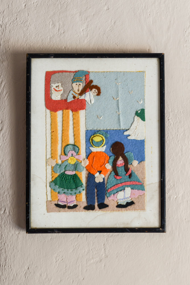 Children's felt Punch & Judy scene