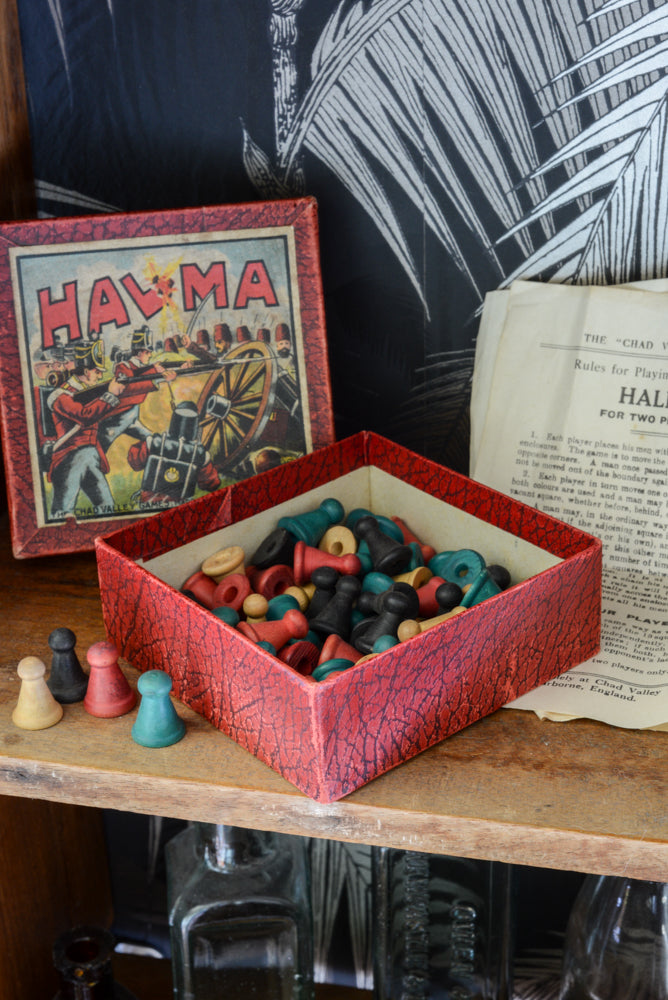 Halma Game - vintage kids game