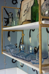 Vintage Ice-Blue Deco-style Dressing Table Set