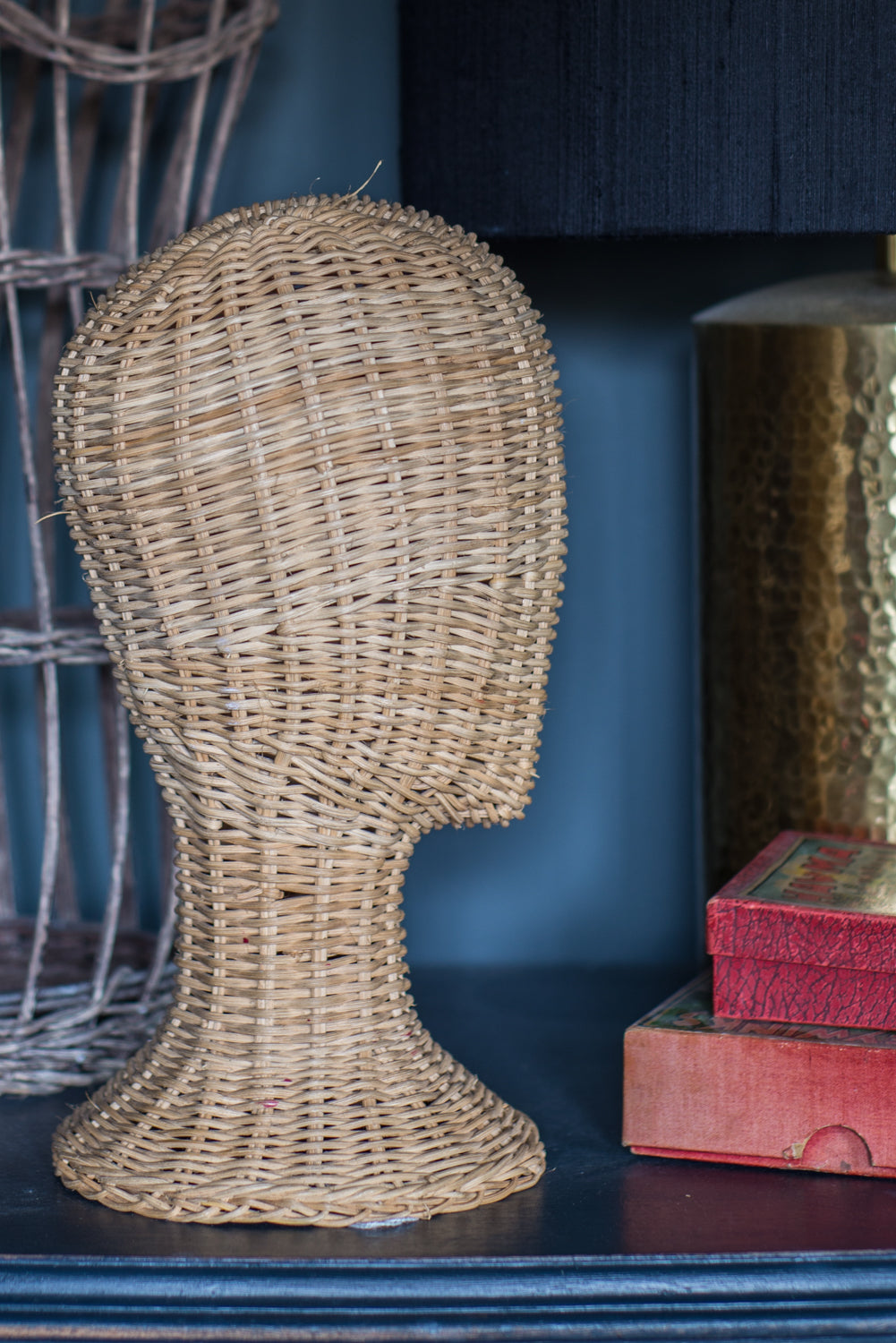 Stylish Wicker Mannequin Head