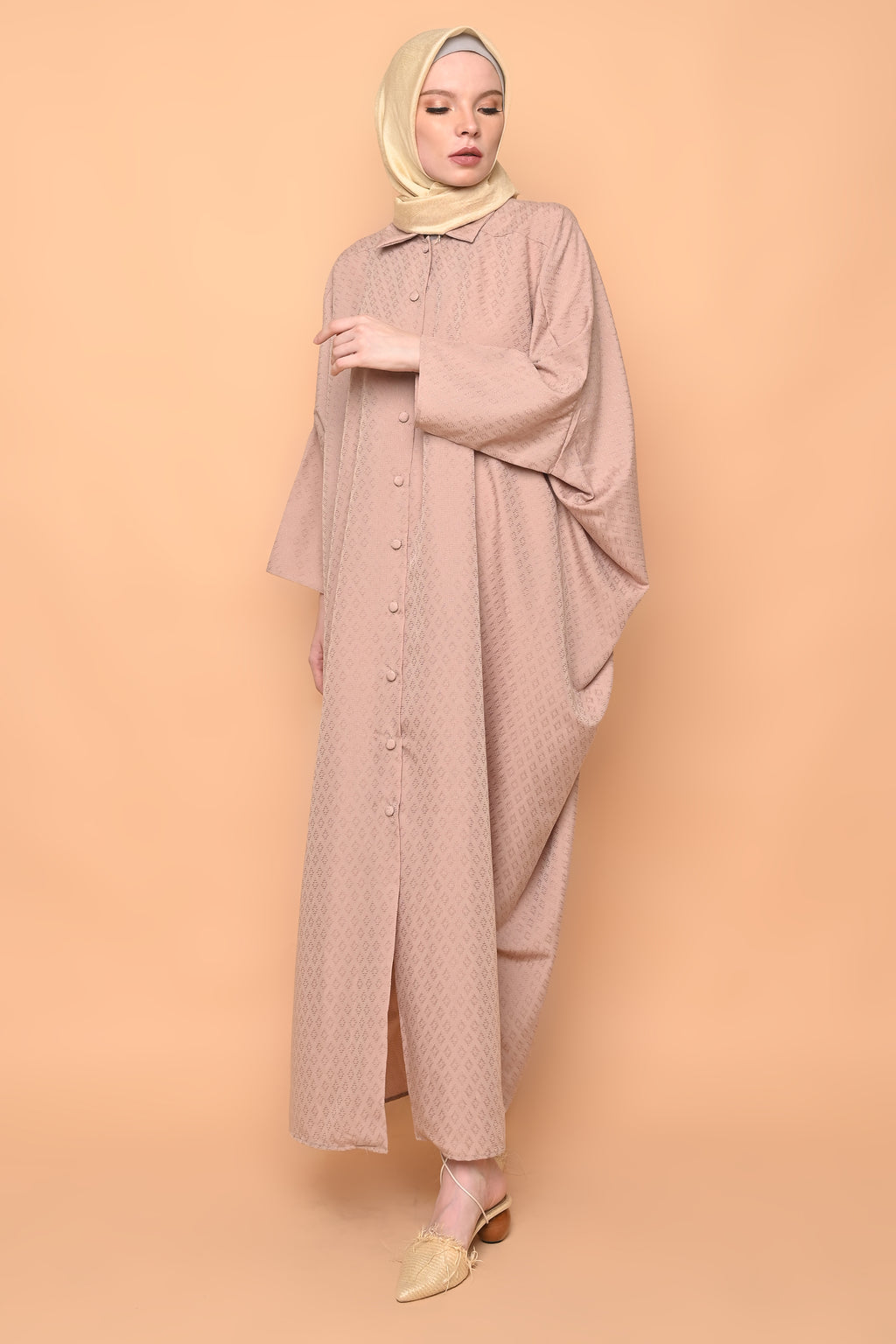 Ayumi Shirt Dress in Hazelnut