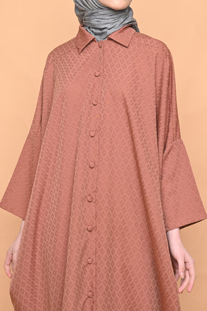 Ayumi Shirt Dress in Terracotta