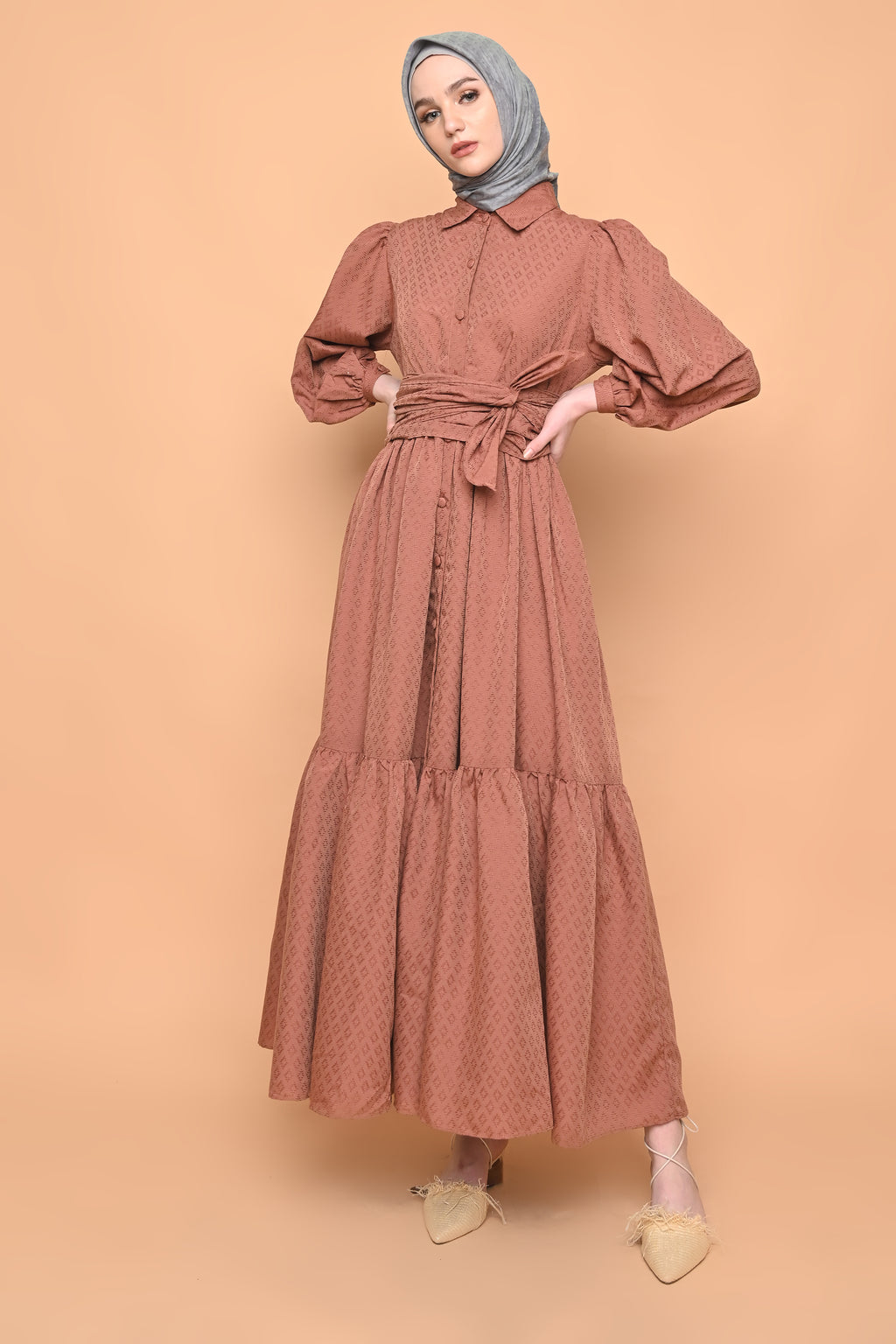 Naomi Dress in Terracotta