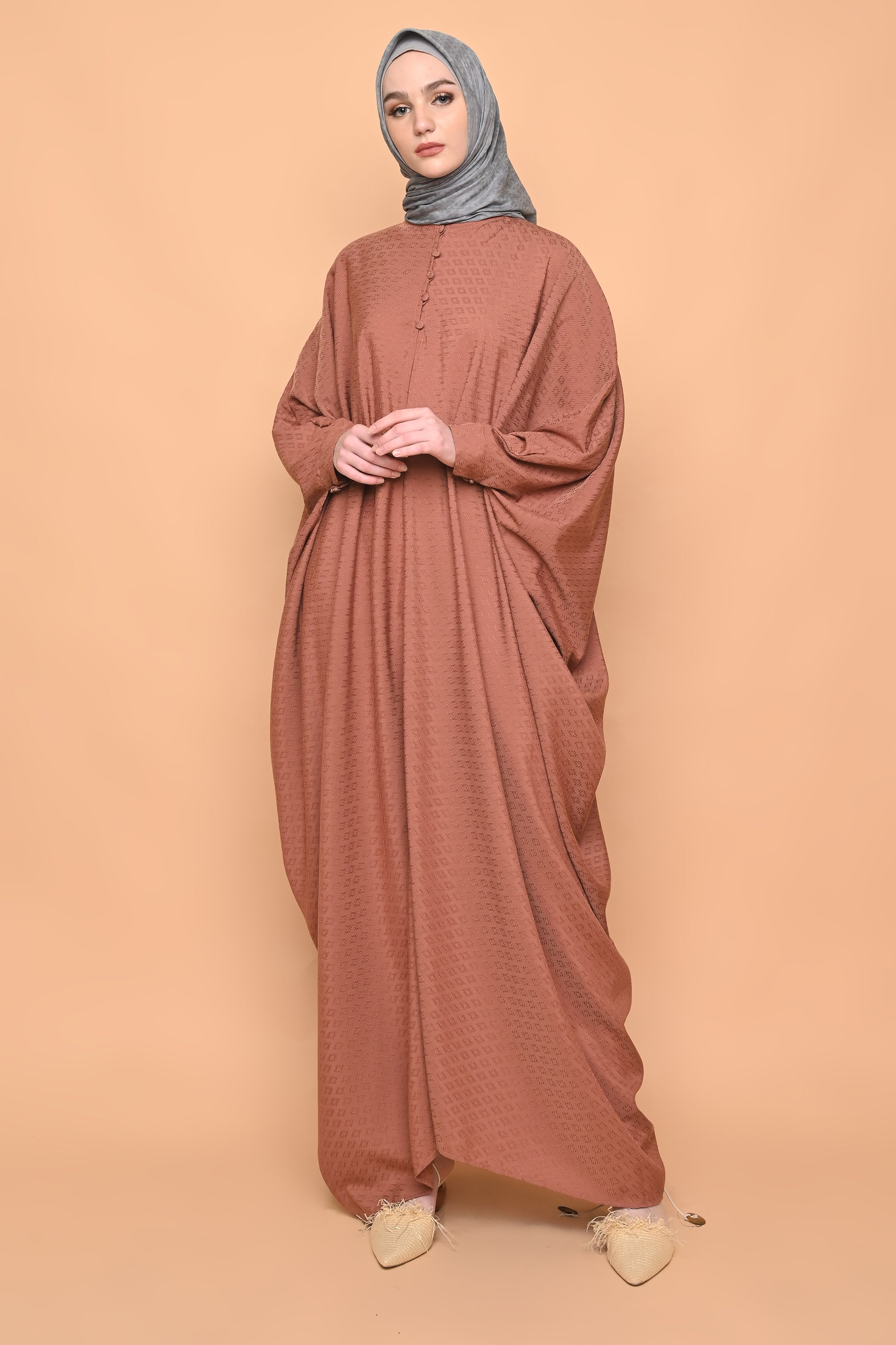 Asuka Kaftan in Terracotta