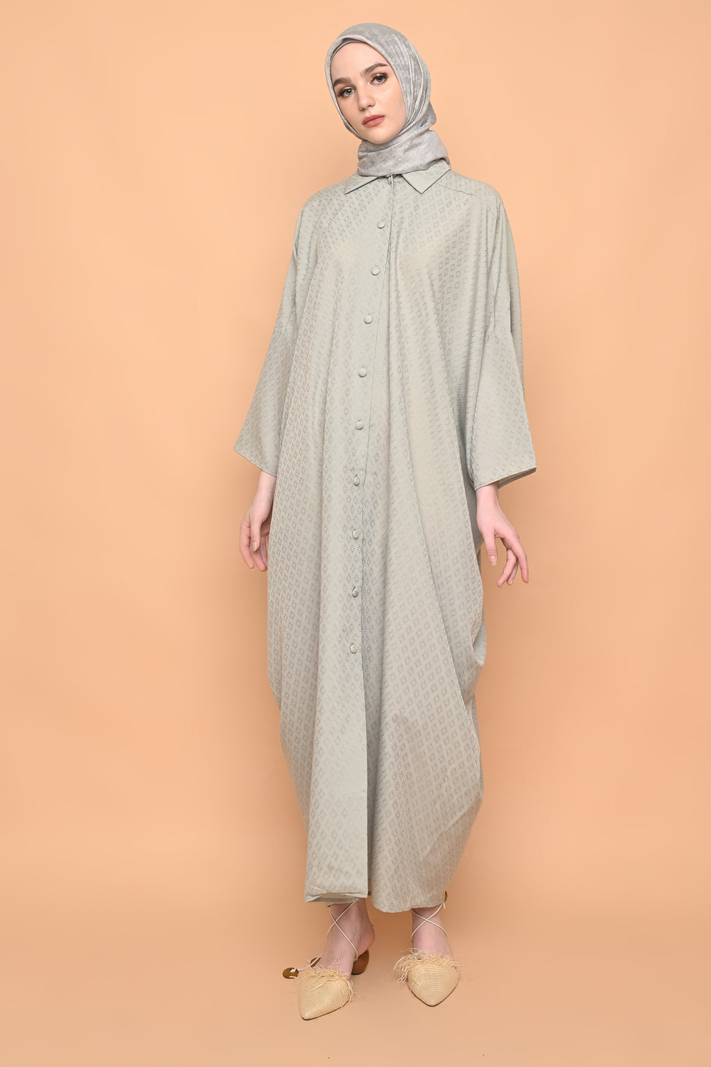 Ayumi Shirt Dress in Sage Green