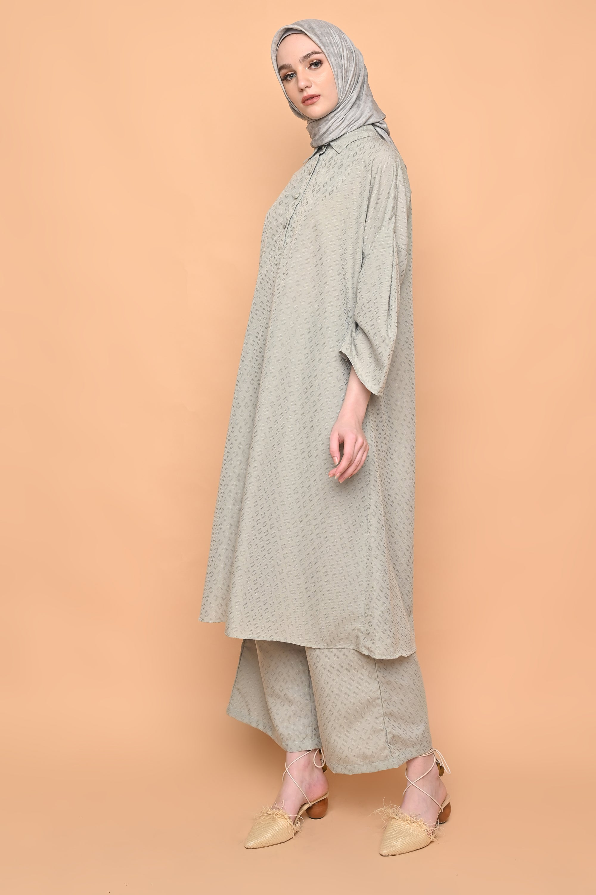 Michiko Set in Sage Green