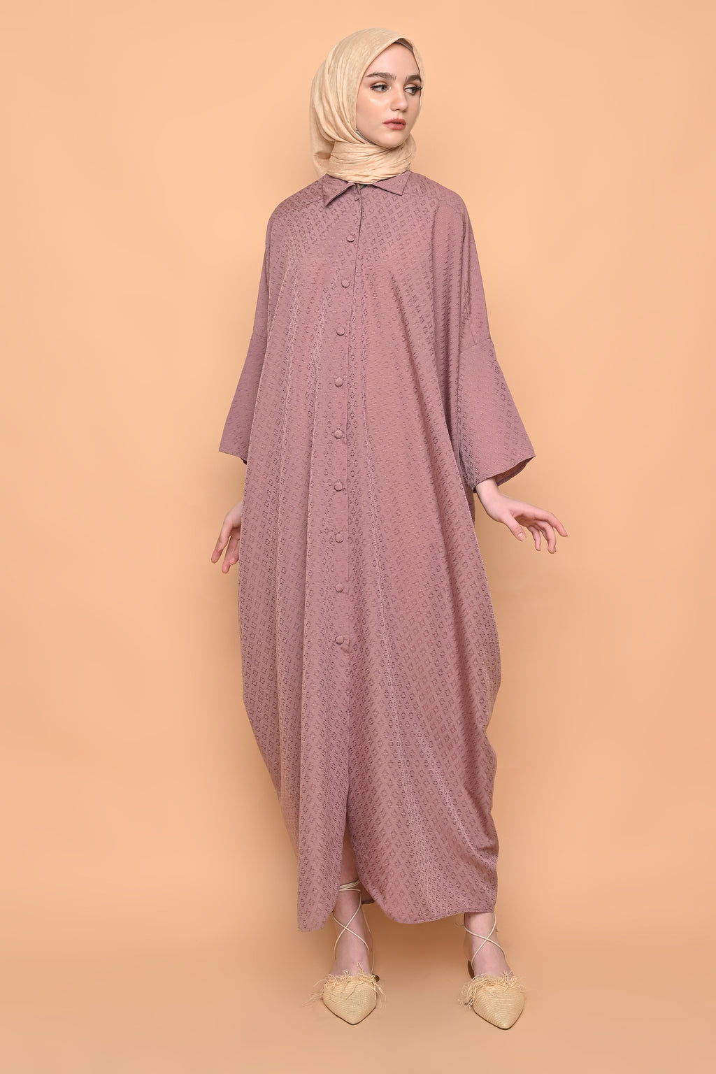 Ayumi Shirt Dress in Mauve