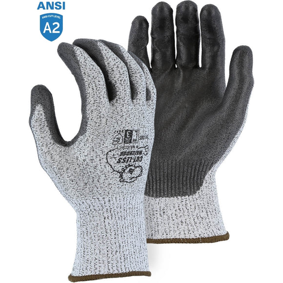 Majestic 35-1305 Cut-less Watchdog Cut Resistant Gloves with Polyurethane Palm Coating