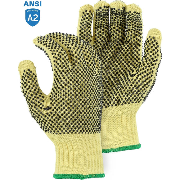 Majestic 3110 Cut-Less With Kevlar Medium Weight Cut Resistant Glove with PVC Dots