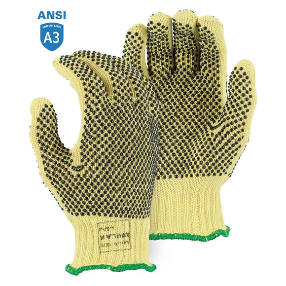 Majestic 3111 Cut-Less With Kevlar Heavyweight Cut Resistant Glove with PVC Dots