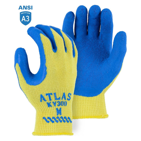 Atlas KV300 Kevlar Cut Resistant Knit Gloves with Latex Palm Coating
