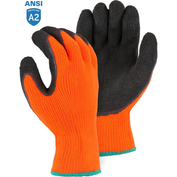 Majestic 3396HON Hi-Vis Polar Penguin Winter Gloves with Latex Palm Coating