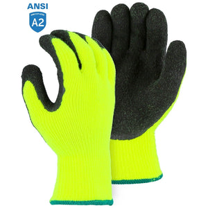 Majestic 3396HYN Hi-Vis Polar Penguin Winter Gloves with Latex Palm Coating