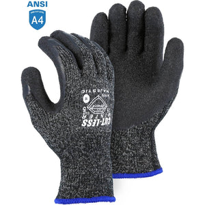 Majestic 34-1570 Winter-lined Dyneema Cut Resistant Glove with Latex Palm Coating