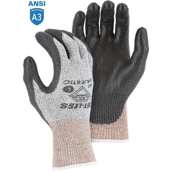 Majestic 3437 Dyneema Cut-Less Cut-resistant Glove with Polyurethane Palm Coating