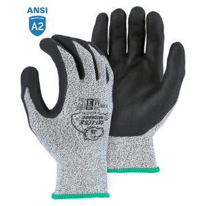 Majestic 35-1365 Cut-less Watchdog Cut Resistant Gloves with Foam Nitrile Palm Coating
