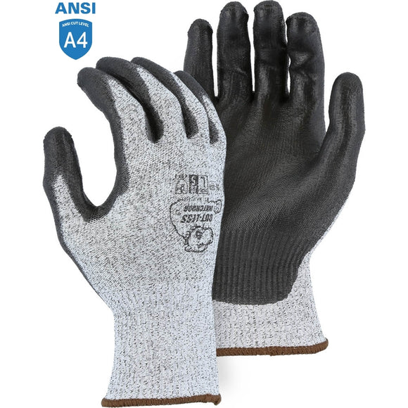 Majestic 35-1500 Cut-less Watchdog Cut Resistant Gloves with Polyurethane Palm Coating