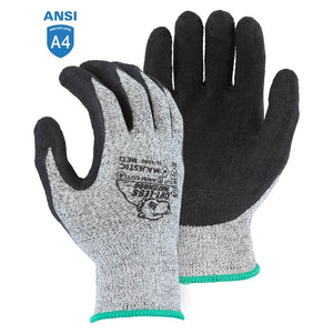 Majestic 35-1550 Cut-less Watchdog Cut Resistant Gloves with Crinkle Latex Palm Coating
