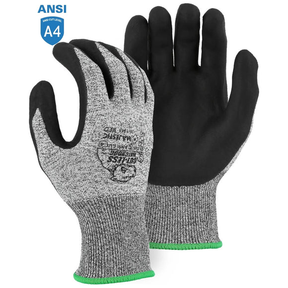 Majestic 35-1565 Cut-less Watchdog Cut Resistant Gloves with Foam Nitrile Palm Coating