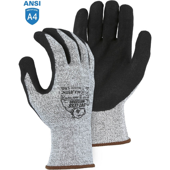 Majestic 35-1575 Cut-less Watchdog Cut Resistant Gloves with Sandy Nitrile Palm Coating