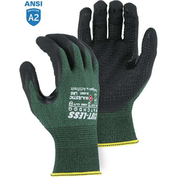 Majestic 35-3367 Cut-Less Watchdog Gloves with Foam Nitrile Palm Coating