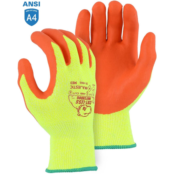Majestic 35-4565 Cut-less Watchdog Cut Resistant Gloves with Foam Nitrile Palm Coating
