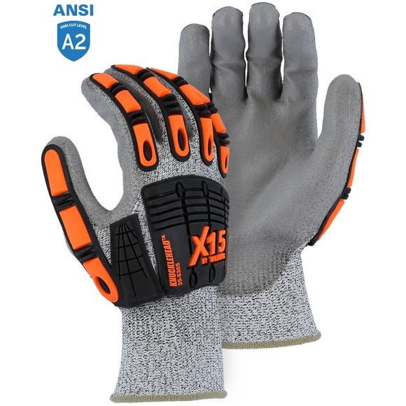 Majestic 35-5305 X15 Cut & Impact Resistant Glove with Polyurethane Coating