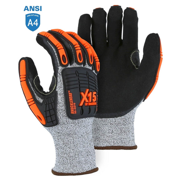 Majestic 35-5575 X15 Cut & Impact Resistant Glove with Sandy Nitrile Coating