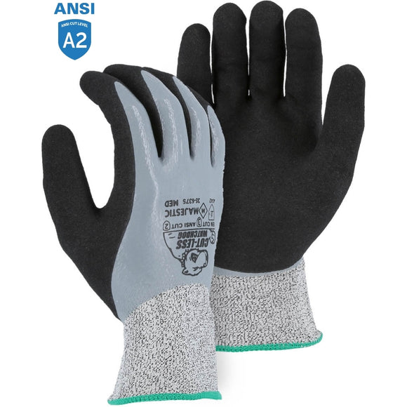 Majestic 35-6375 Cut-less Watchdog Cut Resistant Gloves with Sandy Nitrile Palm Coating