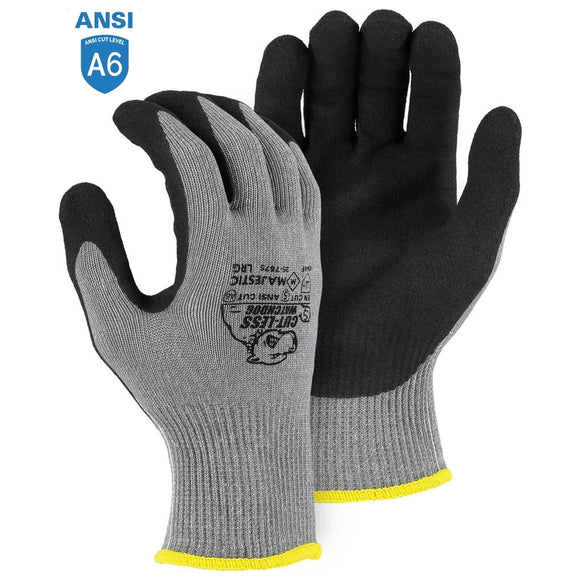 Majestic 35-7675 Cut-Less Watchdog Extreme Cut Resistant Gloves with Sandy Nitrile Palm Coating