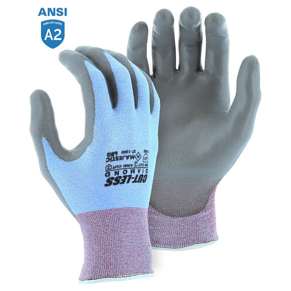 Majestic 37-1300 Dyneema Diamond Cut-Less Cut-resistant Glove with Polyurethane Palm Coating