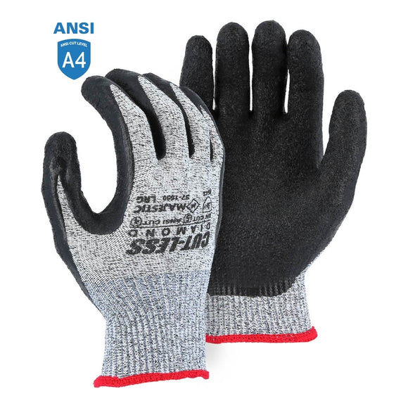 Majestic 37-1550 Dyneema Diamond Cut Resistant Glove with Latex Palm Coating