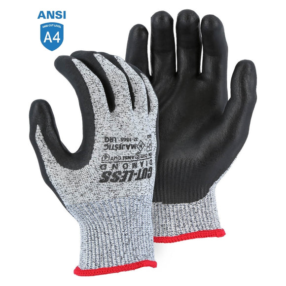 Majestic 37-1565 Dyneema Diamond Cut Resistant Glove with Foam Nitrile Palm Coating