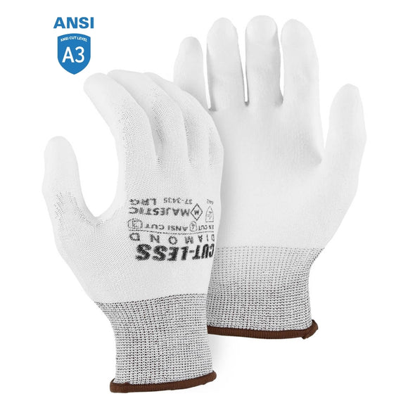 Majestic 37-3435 Dyneema Diamond Cut Resistant Glove with Polyurethane Palm Coating