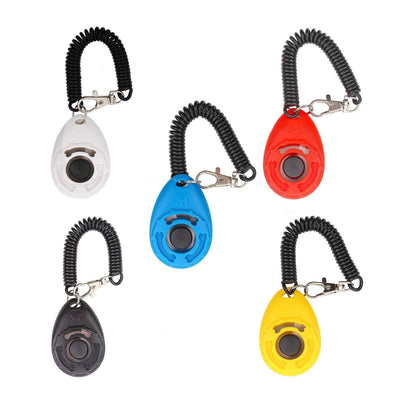 Training Clicker, Deluxe Model With Wristband, 5 Pieces