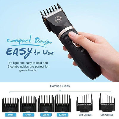 Electric Pet Hair Clipper, Rechargeable Cordless