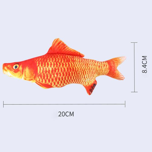 Plush Creative 3D Carp Fish Shape Cat Toy Gift Cute Simulation Fish Playing Toy Catnip Fish Stuffed Pillow Doll