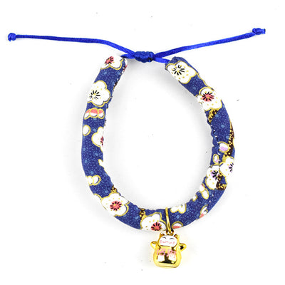 Japan Style Cat Necklace Pet Collar With Bell Adjustable Collars