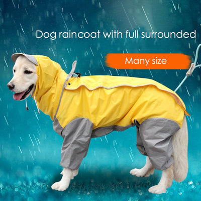 Dog Raincoat with Full Encircle
