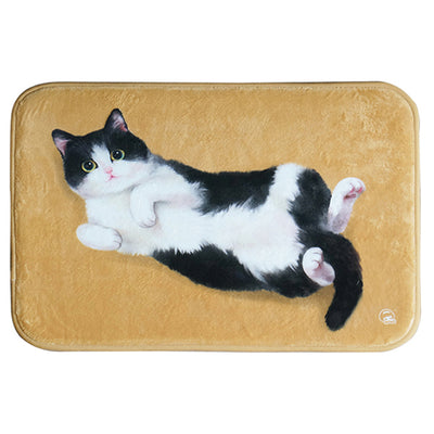 Warm Flannel Original Cute Cat Room Door Bathroom Carpet Smart Kitty Pattern Floor Mats